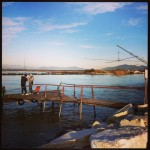 Retoni e pescatori a Marina di Pisa